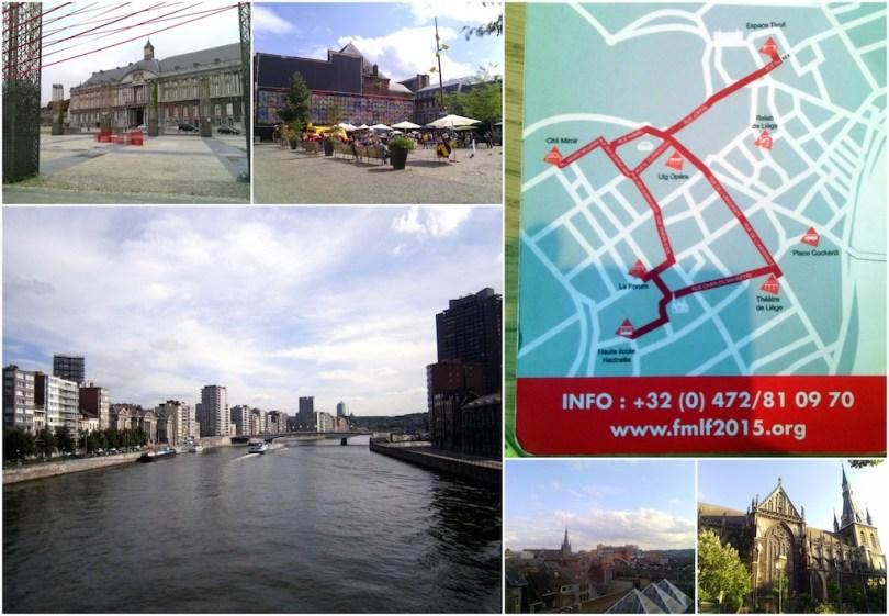 Quelques vues de Liège. Photomontage Mylène Colmar.