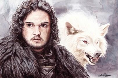 Jon Snow, prints available: 4x6 8x12, 11x17
