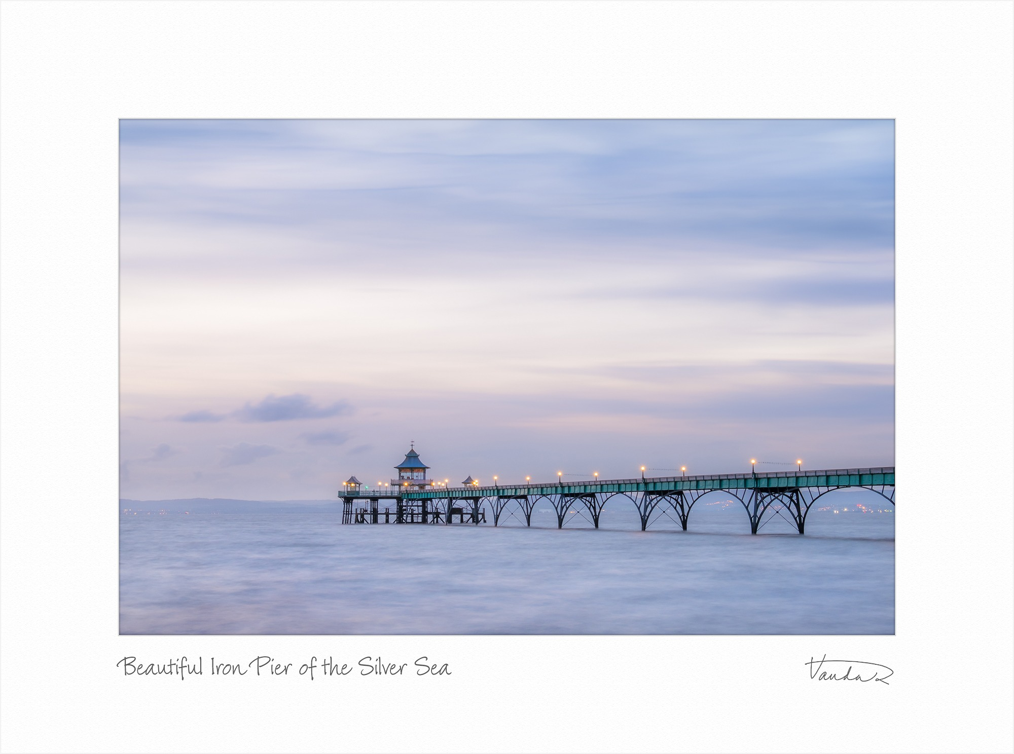 Beautiful Iron Pier of the Silver Sea