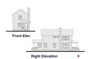 Front, Right Elevation Plans-Custom Home | Virden, Manitoba