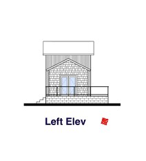 Small House Design-Left Elevation | Regina Beach, Saskatchewan