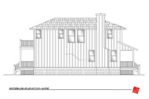 Custom Lowcountry Home Design-Myrtle, Bluffton South Carolina-Elevation Left