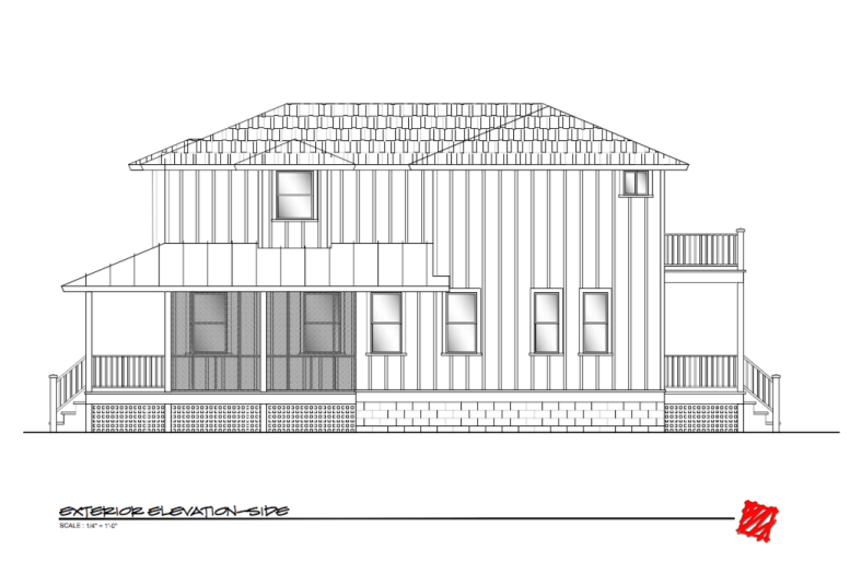 Custom Lowcountry Home Design-Myrtle, Bluffton South Carolina-Elevation Right