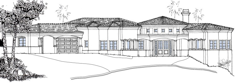 Custom Mediterranean Hillside Home Design-Sea Pointe Estates