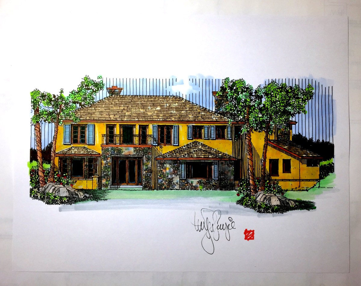 Custom Home Design-French Provencal