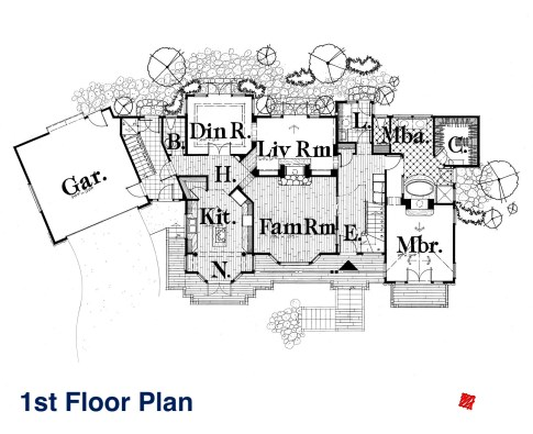 Myles Nelson McKenzie Design-Custom Home Design-Rustic Mountain, Park City, Utah-1st floor plan