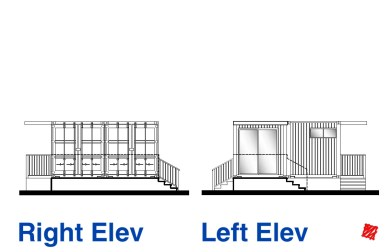 Myles Nelson McKenzie Design-Custom Metal Container Home-1 Bedroom-Right Left-Elevation