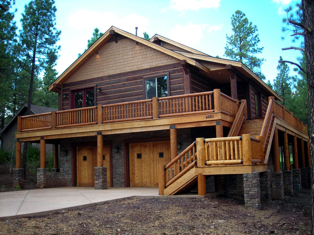 Custom Square Log Mountain Home-Flagstaff AZ