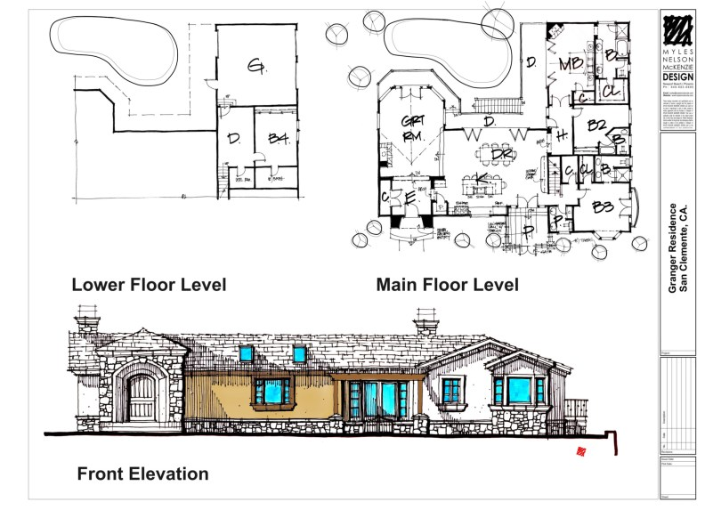 Home Remodel Design-French Country, San Clemente California