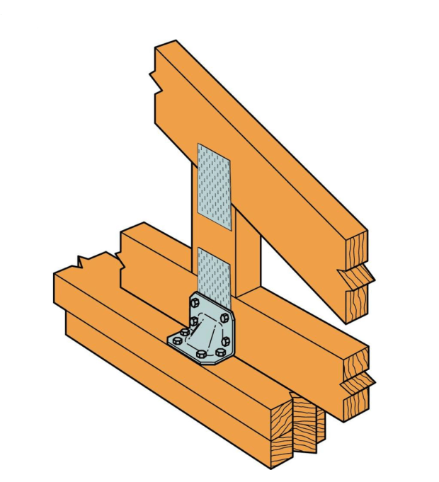 Simpson Strong-Tie, Hurricane Tie with Screw reinforce joints