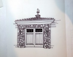 Home Remodel-Italian Ranch-Orange Acres, CA-Garage Main Front Door Study
