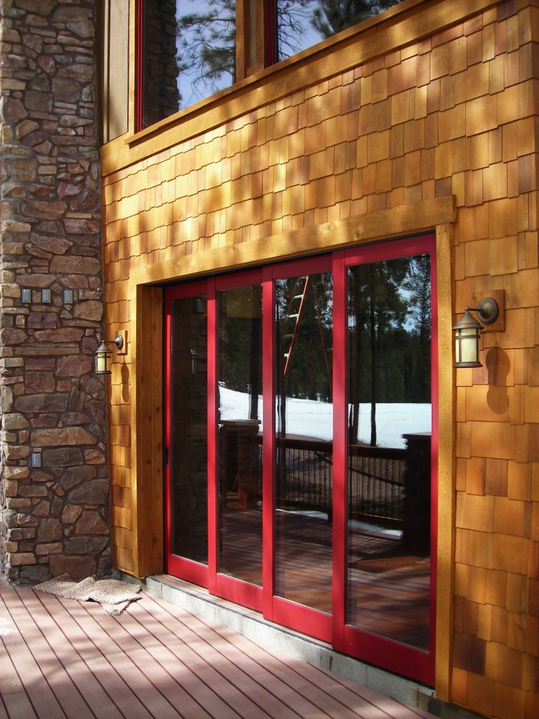 Myles Nelson McKenzie Design-Custom Rustic Home Design-Exterior Accordion Door System