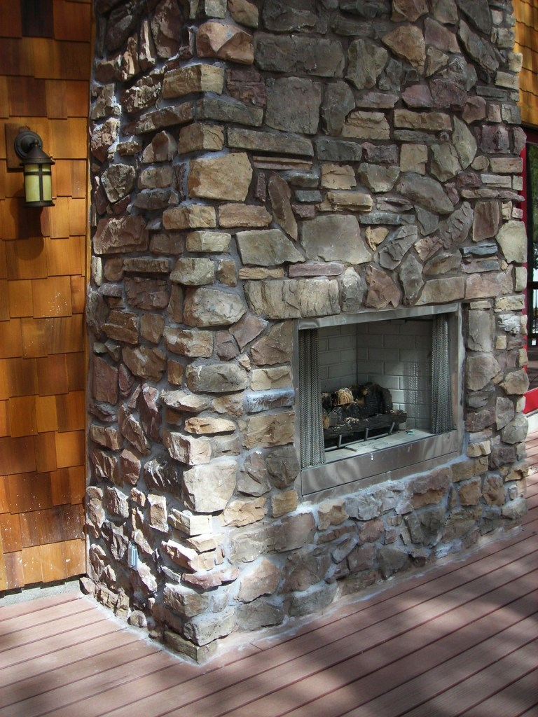 Myles Nelson McKenzie Design-Custom Rustic Home Design-Outdoor Fireplace