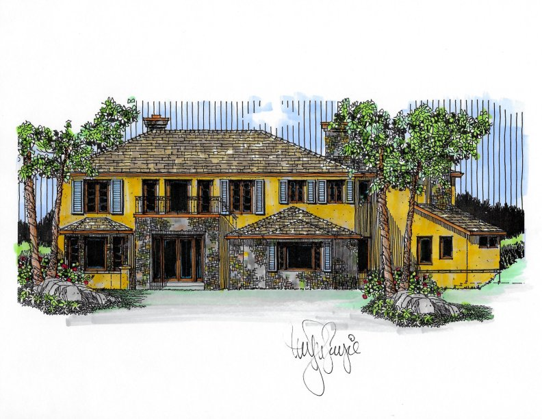 Myles Nelson McKenzie Design-Custom French Provencal Home Design San Clemente California