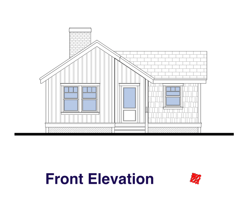 Front Elevation-Custom Small House-High River, Alberta Canada