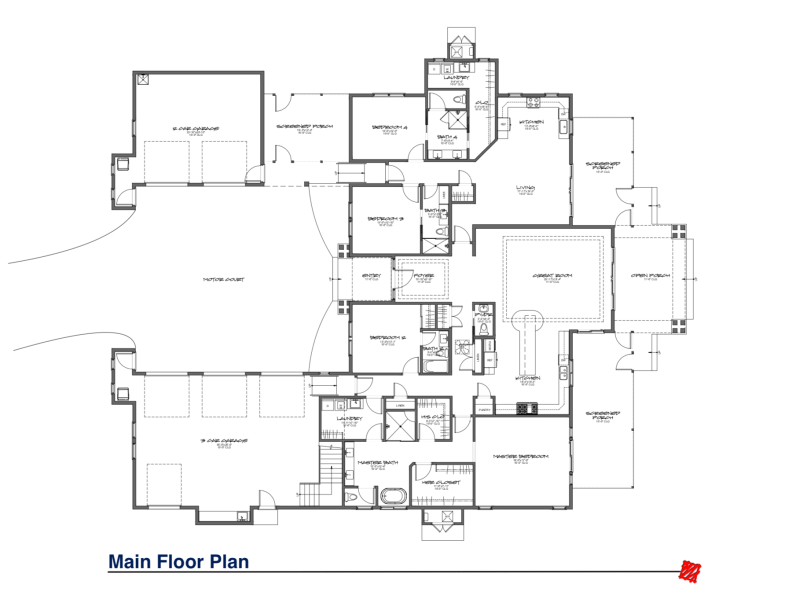 Custom home floor plan for Clients in Riverbend-Bluffton, South Carolina.