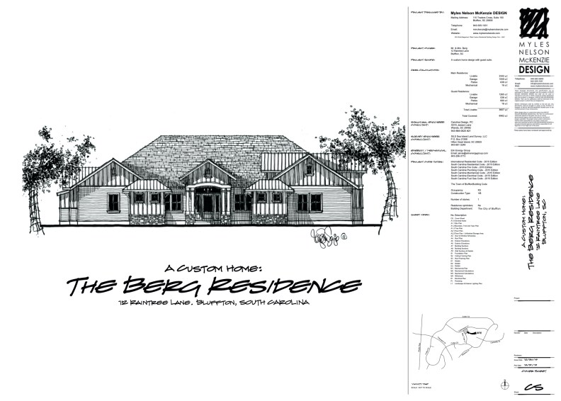 Custom home design in Bluffton, South Carolina - The Berg Residence.  Designed by Myles Nelson McKenzie Design.
