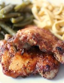 Honey Spiced Glazed Chicken Thighs by Nutmeg Nanny