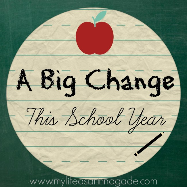 a big change this school year via my life as a rinnagade