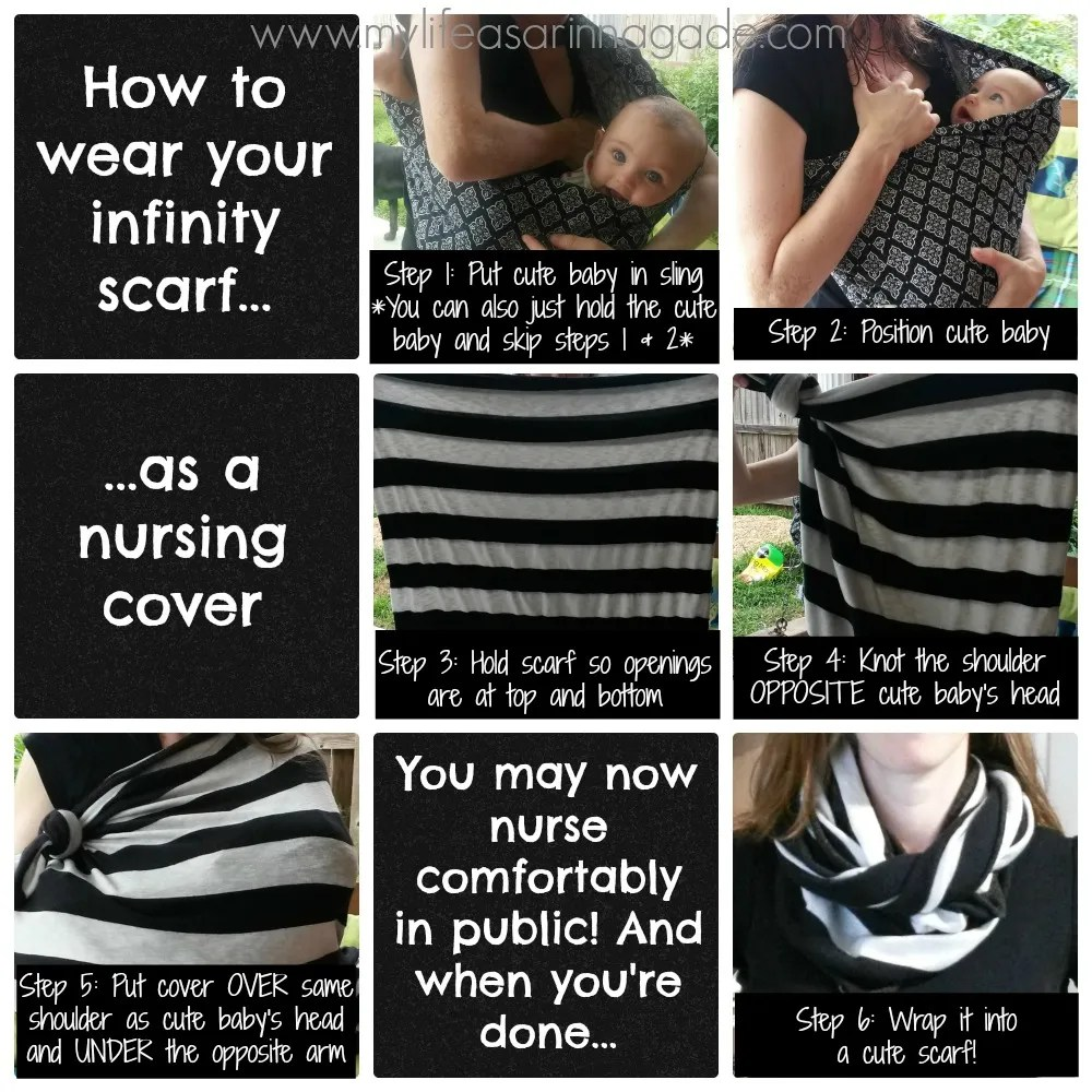 infinity scarf & nursing cover via my life as a rinnagade