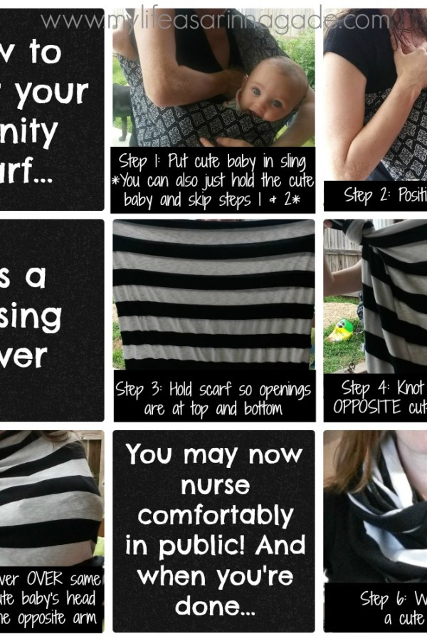 Infinity Scarf & Nursing Cover Tutorial: Make & Wear