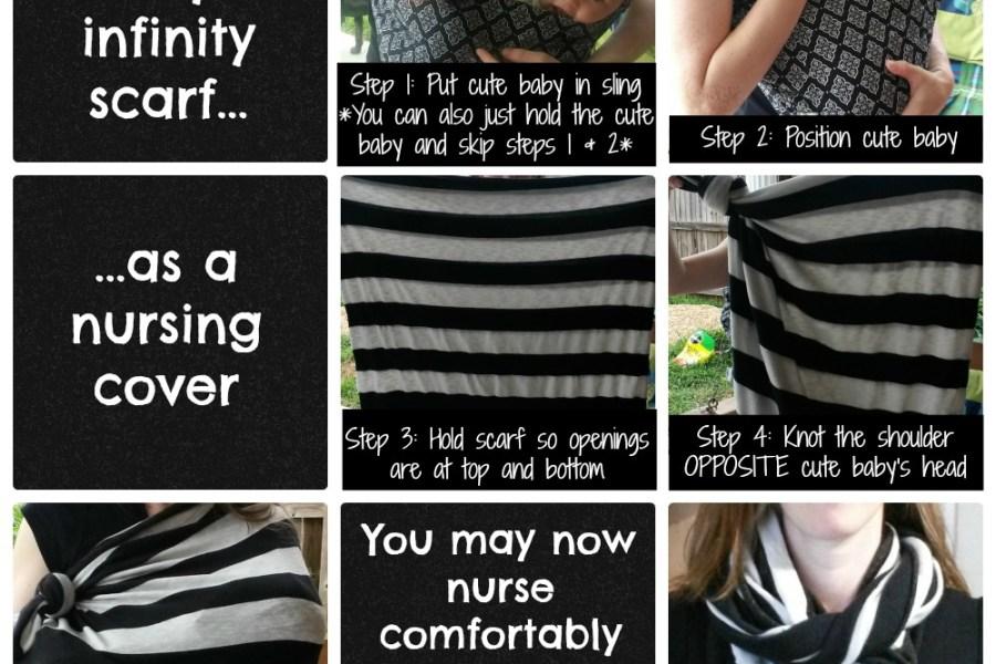 Infinity Scarf & Nursing Cover Tutorial: Make & Wear