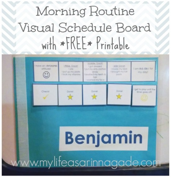 morning routine via my life as a rinnagade
