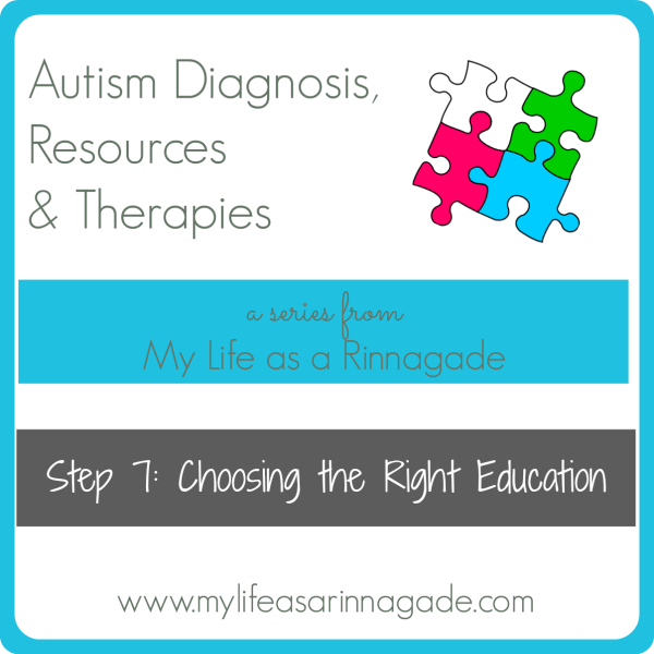 Autism Diagnosis, Resources & Therapies: Step 7: Choosing the Right Education