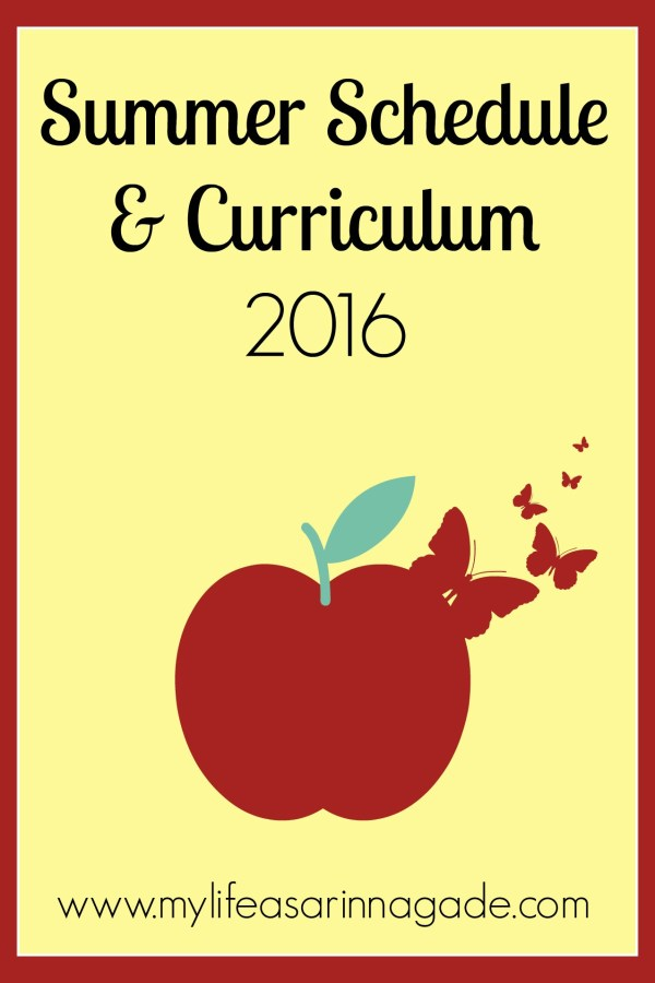 Summer Schedule & Curriculum 2016