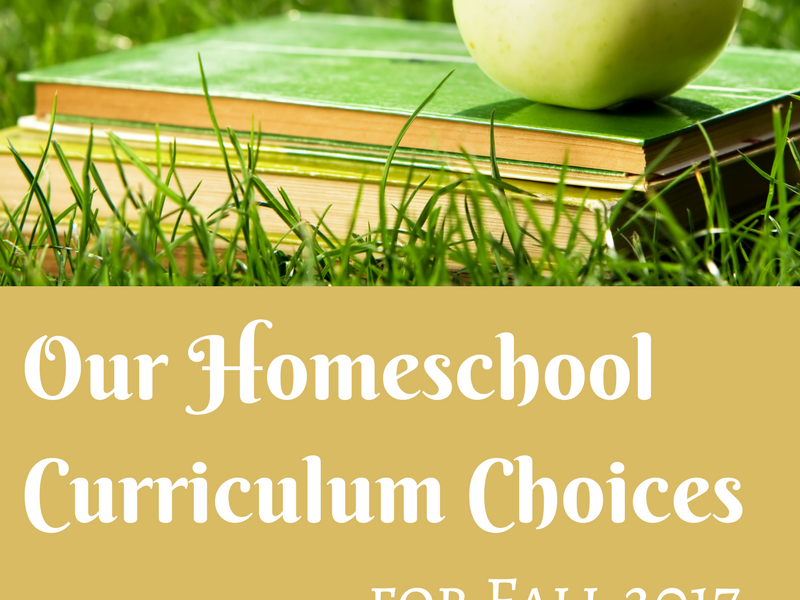 Our Homeschool Curriculum Choices for Fall 2017