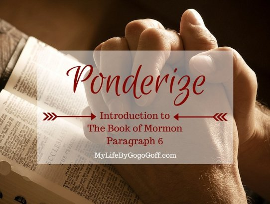Ponderize Preach My Gospel: Introduction to the Book of Mormon. Free Printable!