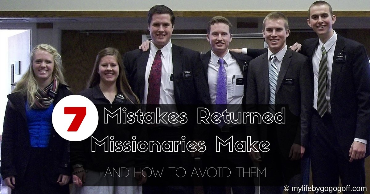 The MTC prepares you for your mission, but when you come home there is no RMTC to teach RM's how to adjust. Here are 7 Mistakes Returned Missionaries make and how to prevent them.