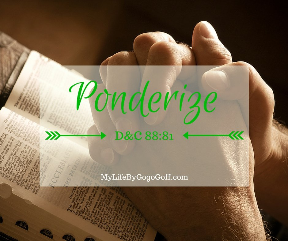 """Missionary Work Ponderize Preach My Gospel! With Free Printables to help!You might ask, """"Why should I ponderize Preach My Gospel?"""" The answer is simple..."""