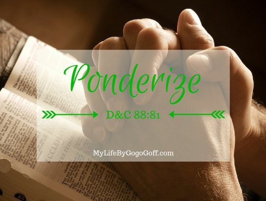 "Missionary Work Ponderize Preach My Gospel! With Free Printables to help! You might ask, ""Why should I ponderize Preach My Gospel?"" The answer is simple..."