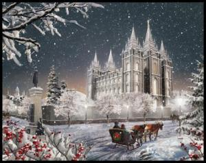 The Salt Lake Temple by Brent Borup
