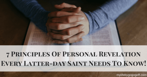 "We have all wondered how we can tell if it ""is it the Spirit or just me?"" here are 7 principles of personal revelation every Latter-day Saint needs to know!"