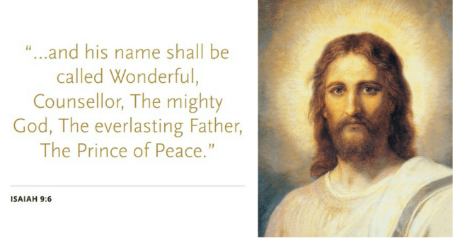 """"""". . .and his name shall be called Wonderful, Counseller, The mighty God, The everlasting Father, The Prince of Peace."""" Isaiah 9:6 #PrinceofPeace"""