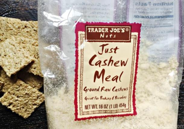 A bag of Trader Joe's Cashew Meal