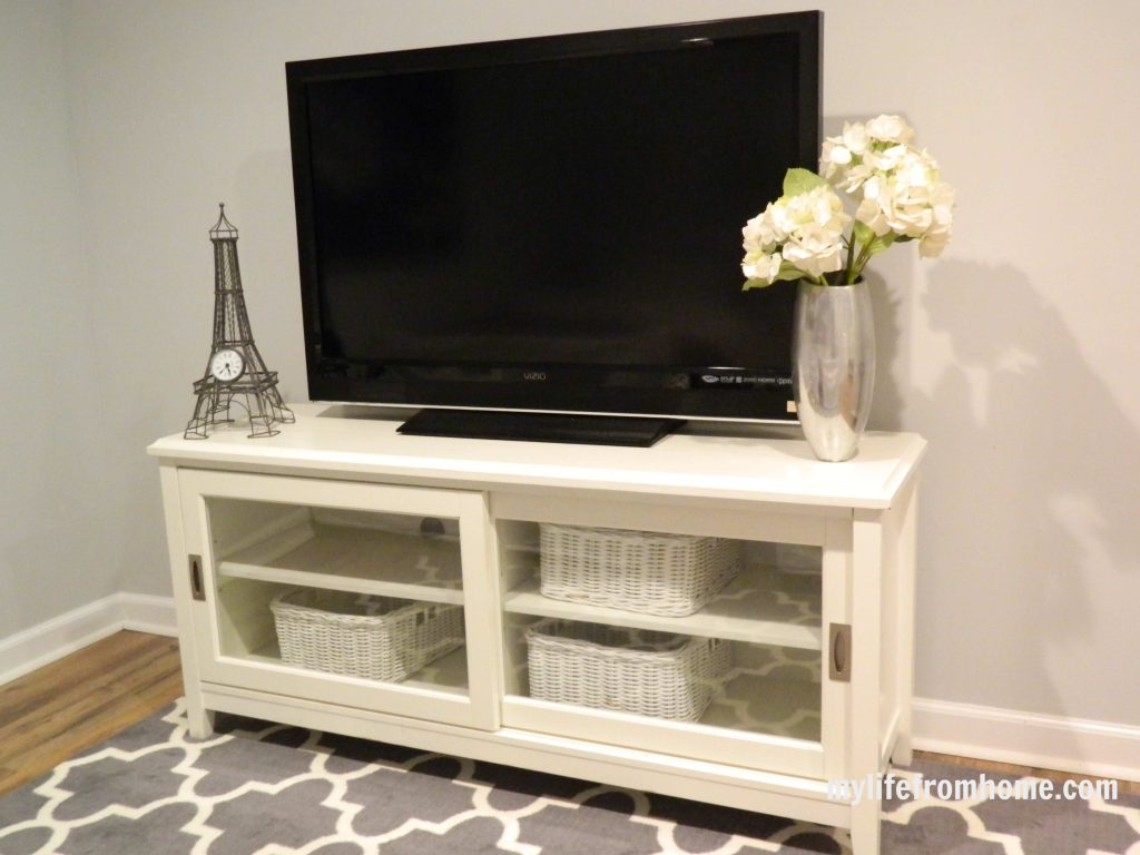 TV cabinet in guest bedroom