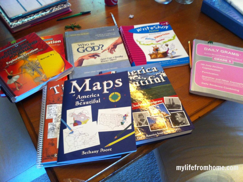 Our homeschool curriculum for 5th grade