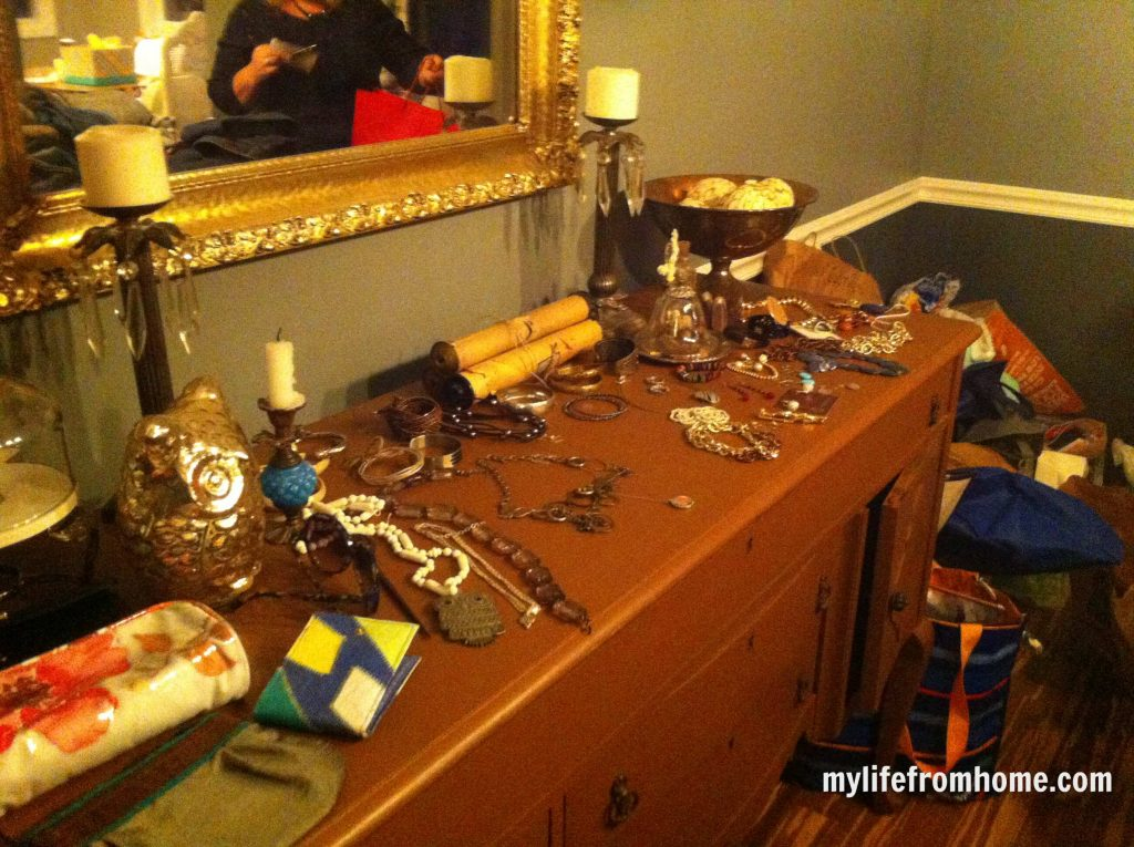 Jewelry table at the swap