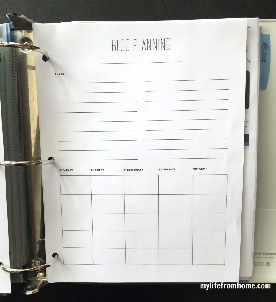 household organizational binder