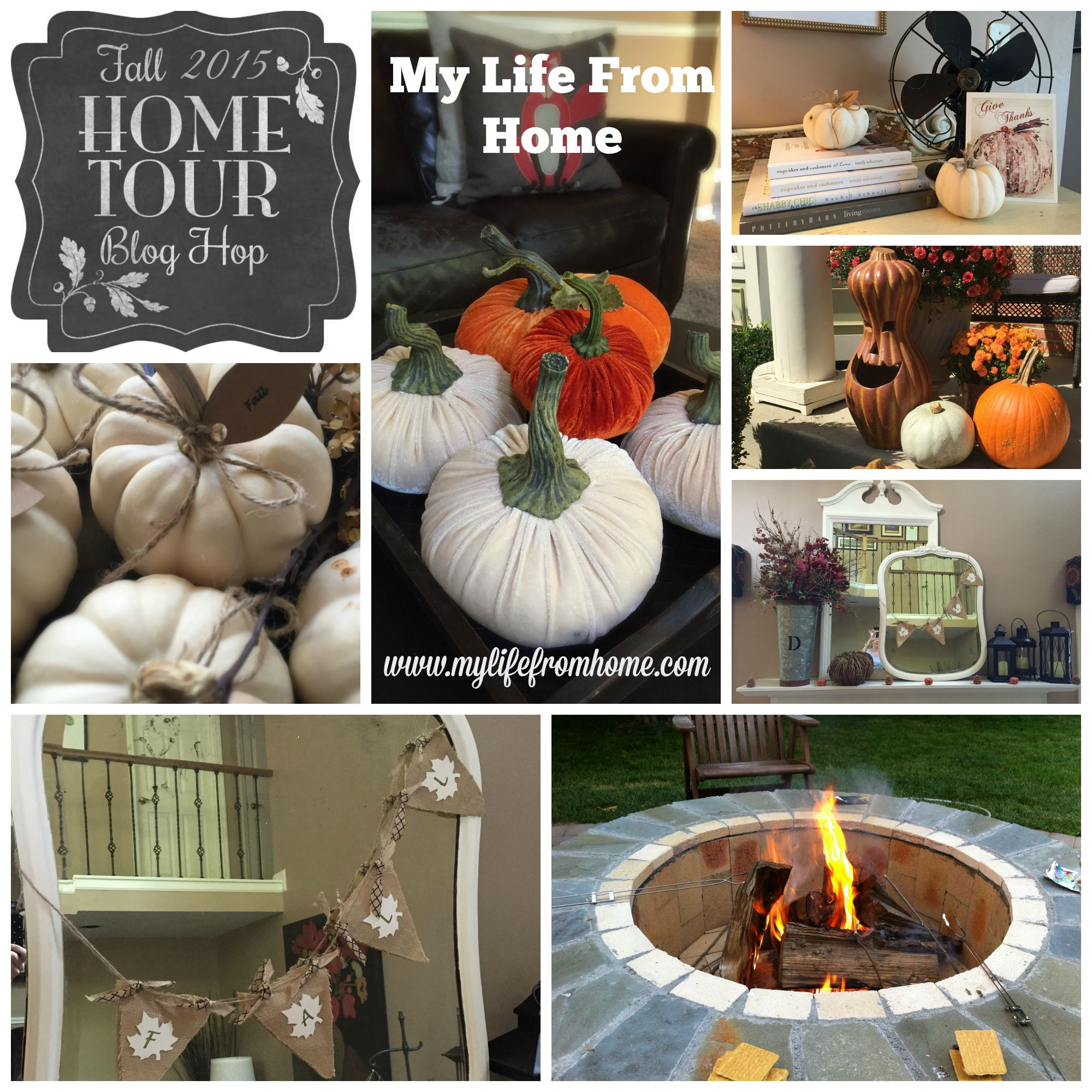 Fall Home Tour Blog Hop by www.mylifefromhome.com
