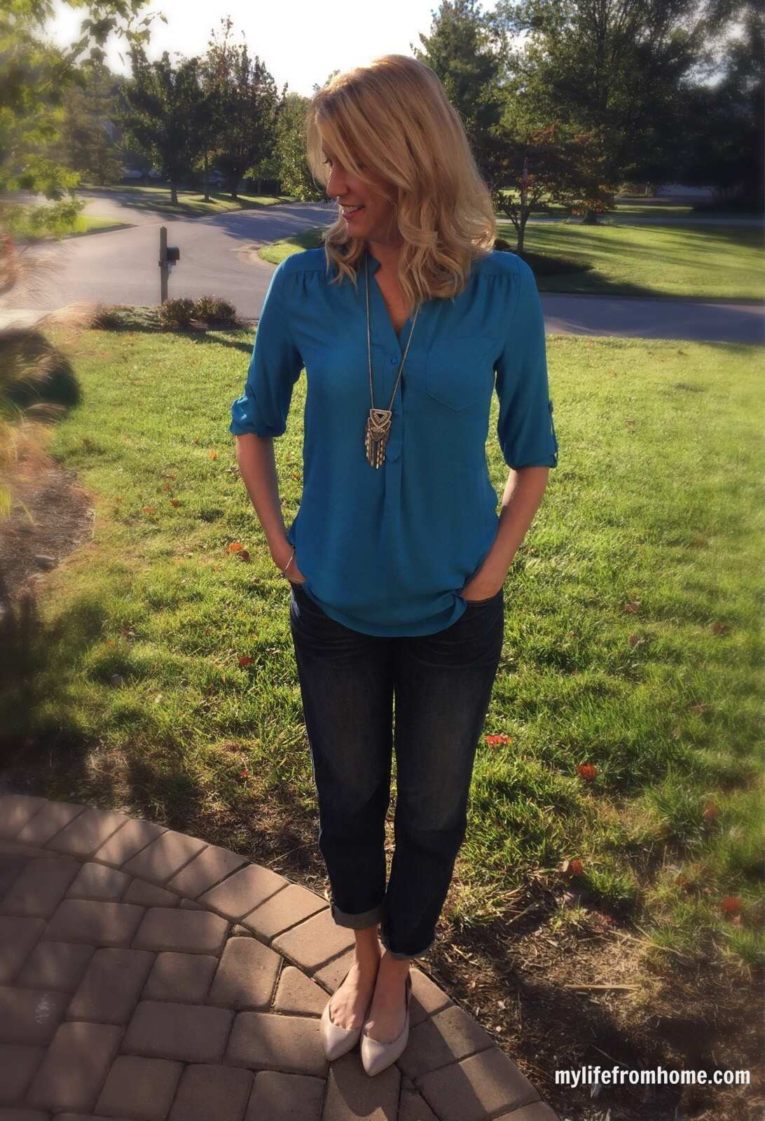 Stitch Fix Blouse Casual Style by www.whitecottagehomeandliving.com