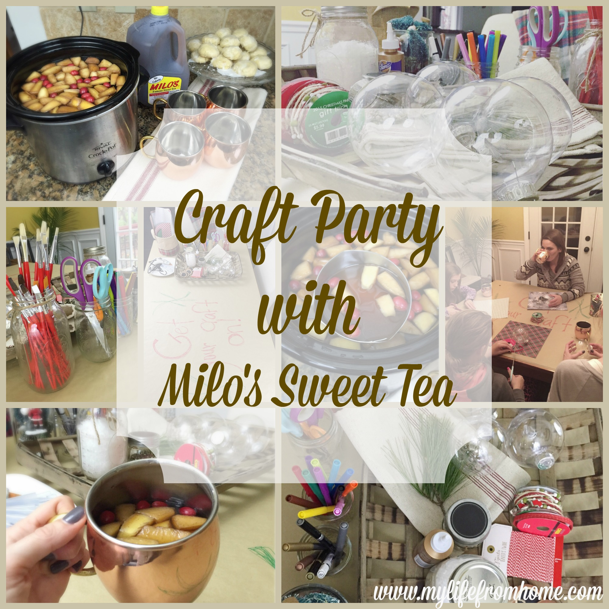 Craft Party With Milo's Sweet Tea by www.mylifefromhome.com