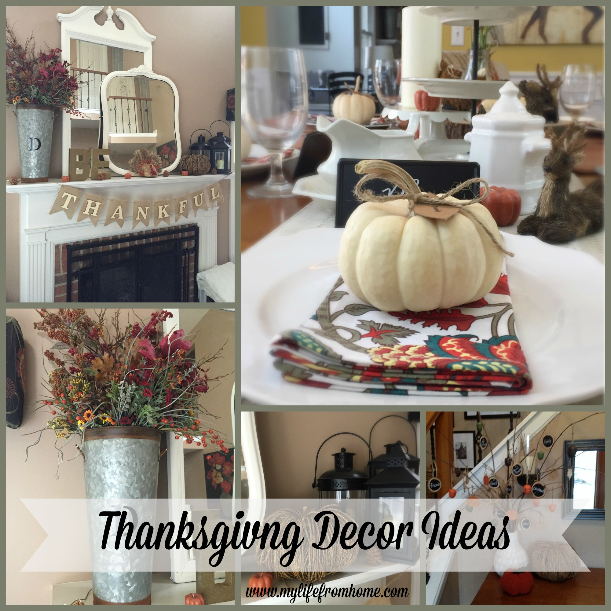 Thanksgiving Decor Ideas by www.mylifefromhome.com