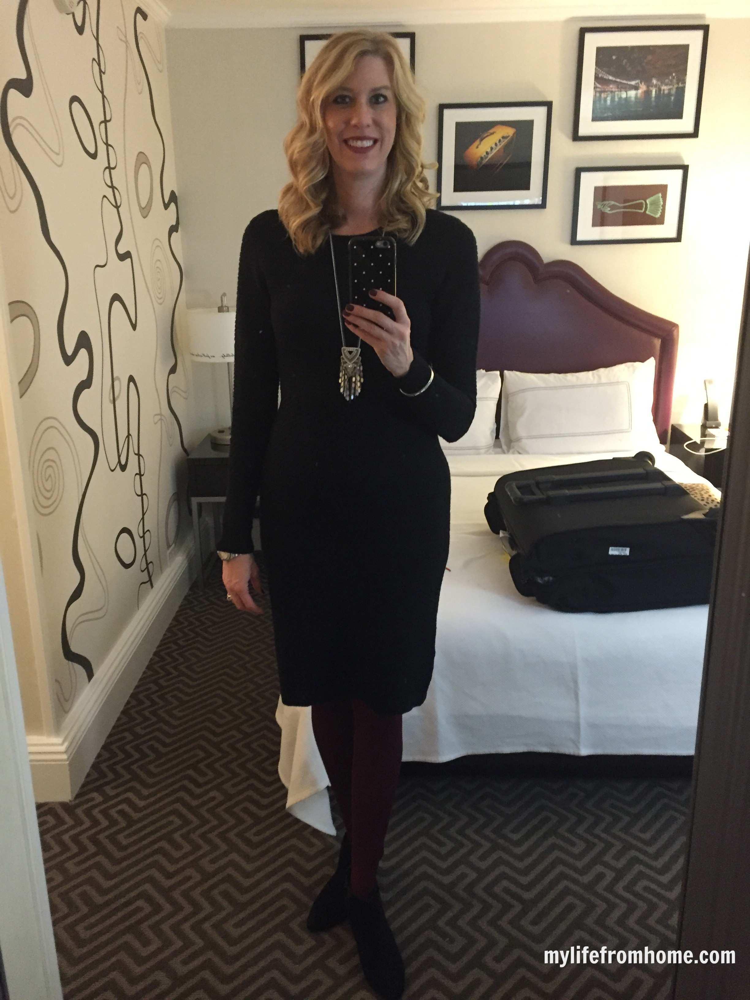 Black Sweater Dress by www.whitecottagehomeandliving.com