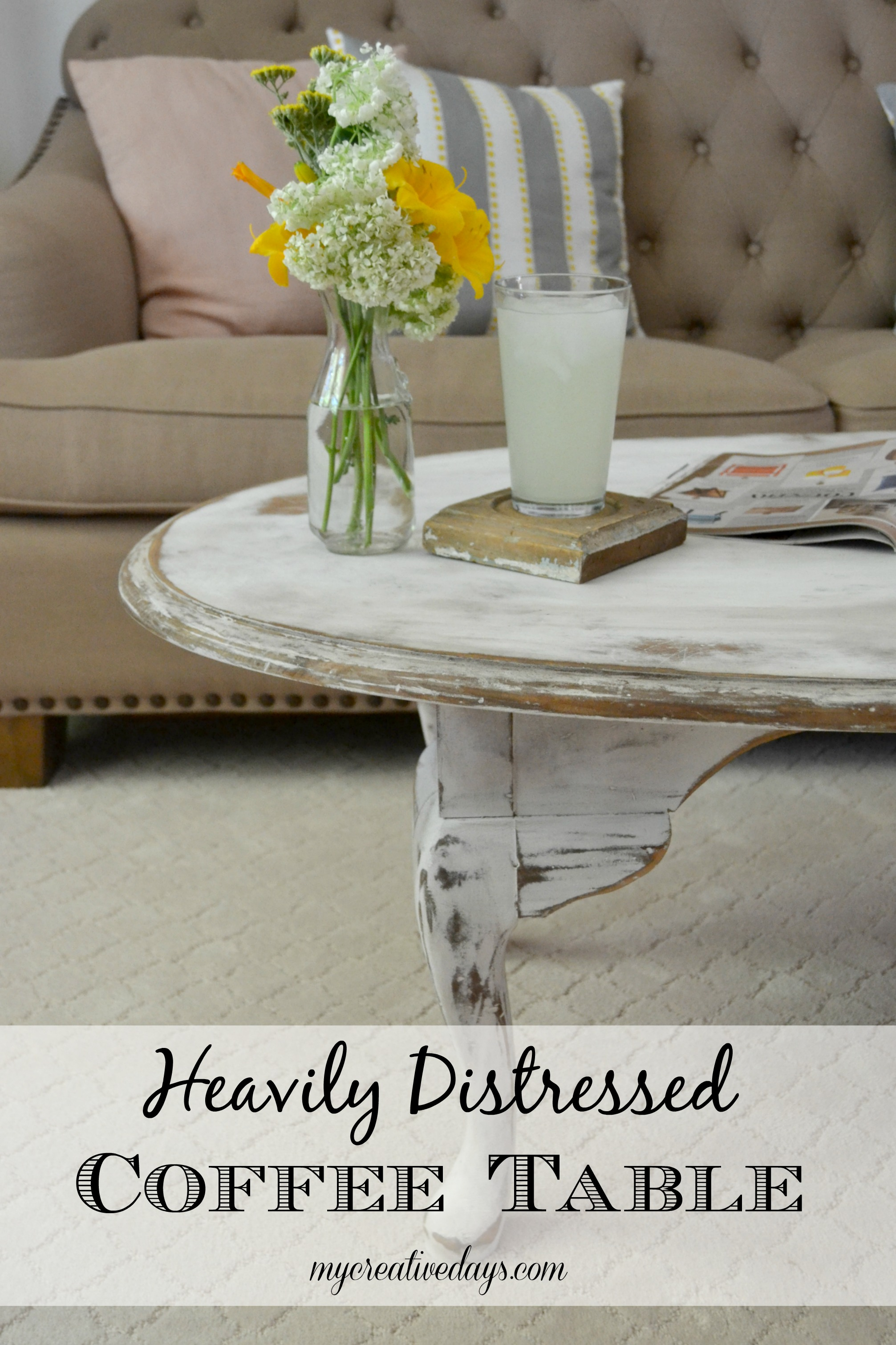Coffee Table Distressed