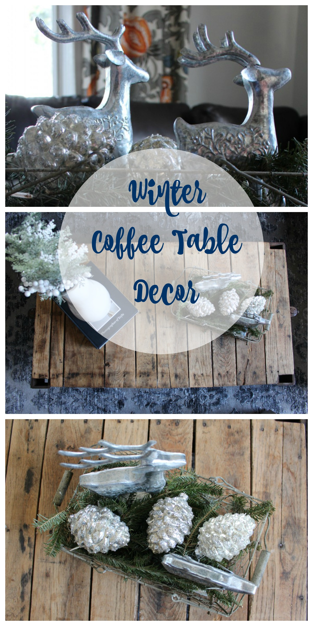 Winter-Coffee Table Decor by 2 Bees