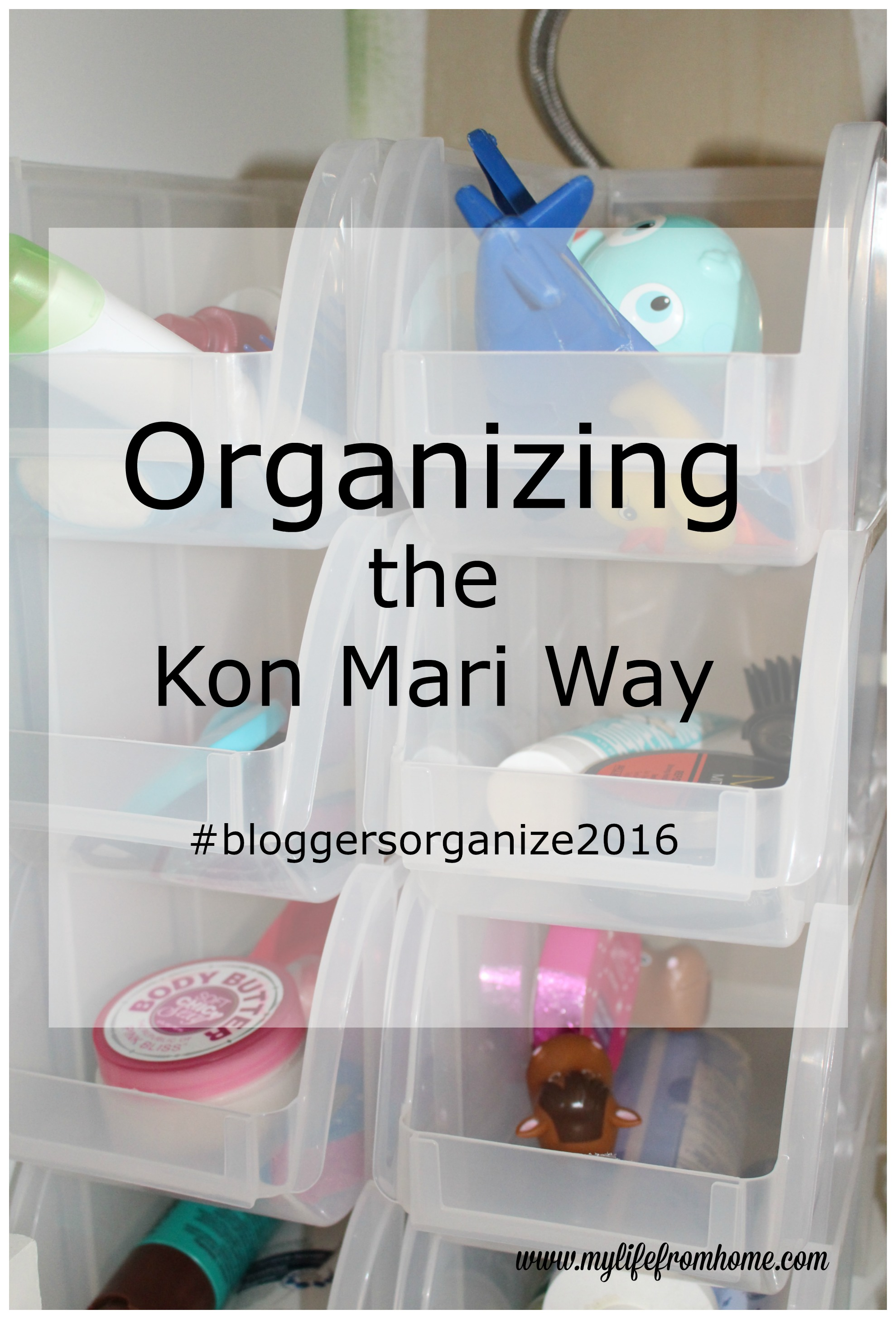 Organizing the Kon Mari Way Small Bathroom Storage by www.mylifefromhome.com